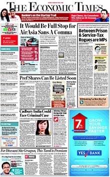 Economic Times Newspaper Classified Ads Online | Myadvtcorner